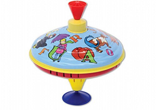 Schylling Spinning Top With Humming Sounds ABC Metal Top