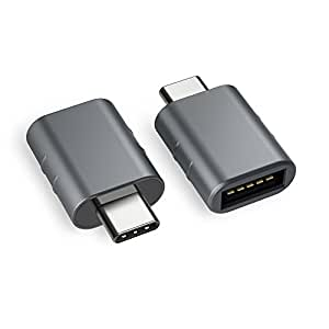 Syntech USB C to USB Adapter [2-Pack], Thunderbolt 3 to USB 3.0 Adapter Compatible MacBook Pro 2018/2017, MacBook Air 2018, Pixel 3, Dell XPS, and All Type-C Devices