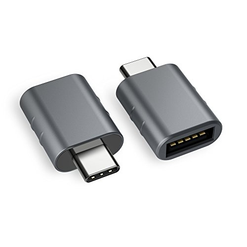 Syntech USB C to USB Adapter (2 Pack), Thunderbolt 3 to USB 3.0 Adapter Compatible with MacBook Pro 2019 and Before, MacBook Air 2018, Dell XPS and More Type C Devices, Space Grey (Best Usb C Adapter)