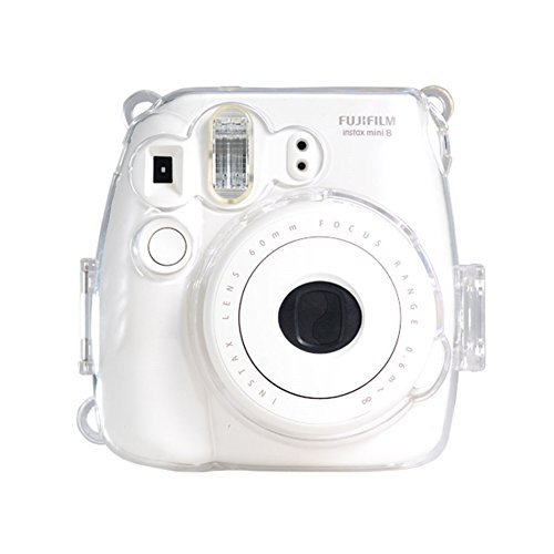 (Colorful Plastic Protect Case for Fujifilm Instax Mini 8 Polaroid Camera Clear)