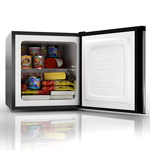 COSTWAY Compact Door Upright Freezer Size Stainless Steel CUFT - Removable Shelves