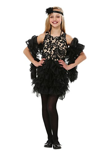 [Fun Costumes Dazzling Flapper Costume X-large (16)] (Throwback Halloween Costumes)