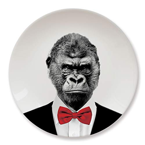 MUSTARD Ceramic Dinner Plate I Dishwasher safe I Dinnerware - Wild Dining Gorilla -