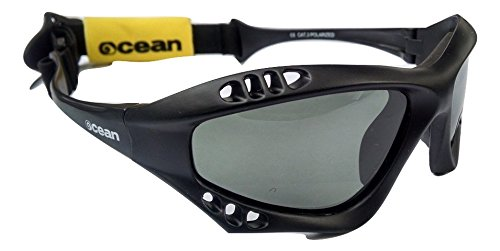 Ocean Australia 68mm XL Polarized Sport Sunglasses, Matt Black (68 Matt)