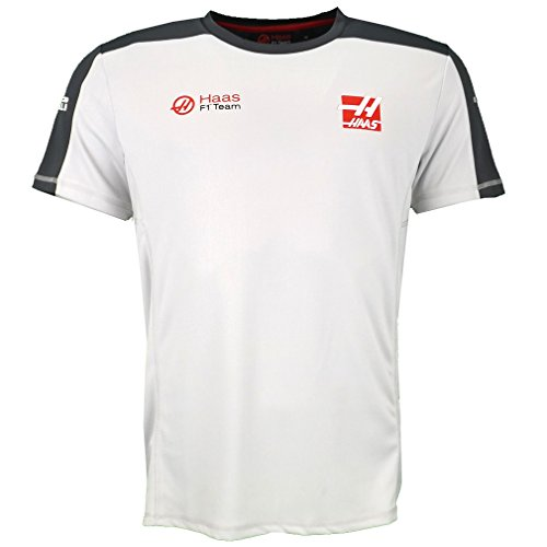 Haas F1 Racing Team Replica T-shirt Grey Official 2016