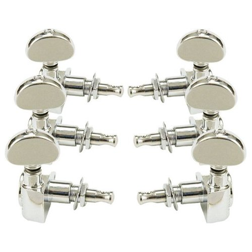 Grover Rotomatic Guitar Tuning Machines - 14:1 Ratio - 3 per side - Nickel
