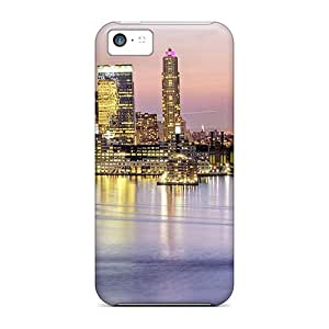 For Iphone Case, High Quality City Waterfront At Dusk For Iphone 5c Cover Cases