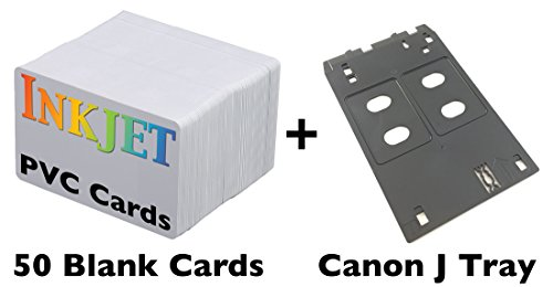 Printed Id Card (Inkjet PVC ID Card Starter Kit - Includes 50 Cards - Compatible with Canon J Tray Printers (50 Cards))