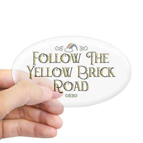 Ovals Wizard Large - CafePress Follow The Yellow Brick Road Oval Sticker Oval Bumper Sticker, Euro Oval Car Decal