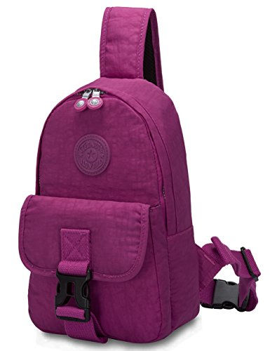 Oakarbo Mini Sling Bag Small Crossbody Shoulder Bag Backpack(1521 Violet red) by Oakarbo