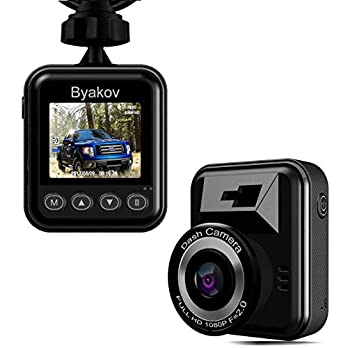 Dash Cam, Byakov Dash Camera for Cars: 1080P Full HD Car Driving Recorder Camera with 170° Wide Angle,1.5inch Screen, Motion Detection, G-Sensor, Loop Recording, Night Vision