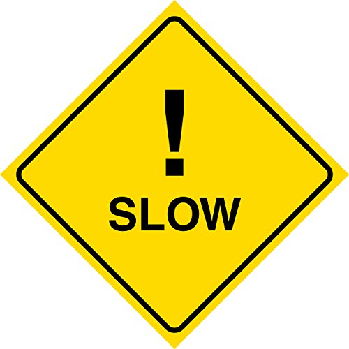 Aluminum Yellow Diamond Caution Slow Notice Road Street Sign Commercial Metal 12x12 Square Sign