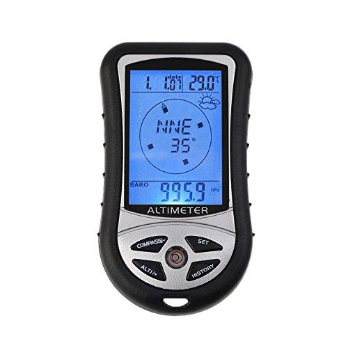 Generic 1 Digital LCD Compass Altimeter Barometer Thermo Temperature Clock Calendar