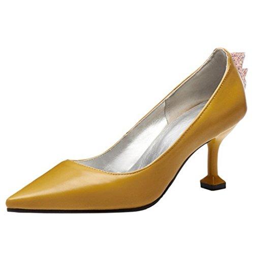 Coolcept Yellow Zapatos Mujer Cerrado Bombas 7frHx7q