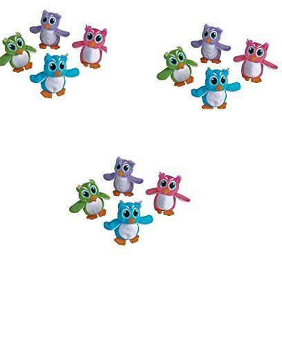 1Dz Plush 5'' Assorted Colors OWLS ~ Cute