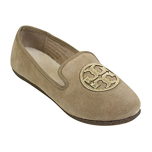 Toryburch Billy Split Mocka / Spegel Craquellee Tofflor Kamel / Guld