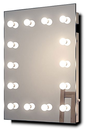 (Diamond X Wallmount Hollywood Makeup Mirror with Dimmable LED k412WW)