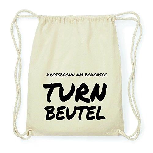 JOllify KRESSBRONN AM BODENSEE Hipster Turnbeutel Tasche Rucksack aus Baumwolle - Farbe: natur Design: Turnbeutel
