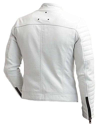 Coolhides Para Hombre Leather White Real Abrigo rnP0qwFzrg