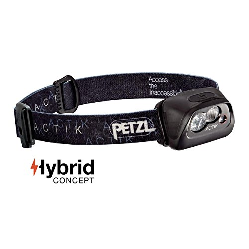 Petzl - ACTIK Headlamp, 300 Lumens, Active Lighting, Black