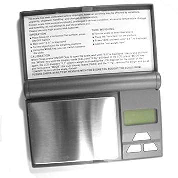 Báscula – Báscula de precisión kx-350 Blue Display Silver 0,1 G junto