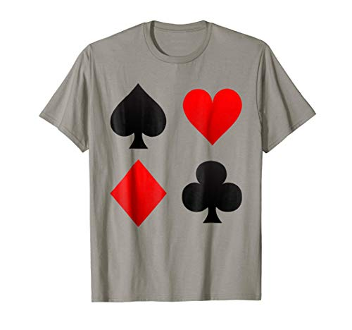 Poker Playing Card Suits T Shirt - Funny Gambling Casino ()