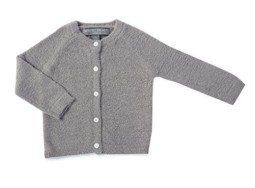 Barefoot Dreams Bamboo Chic Lite Infant Classic Cardigan (XS (3-6 months), Pewter) by Barefoot Dreams
