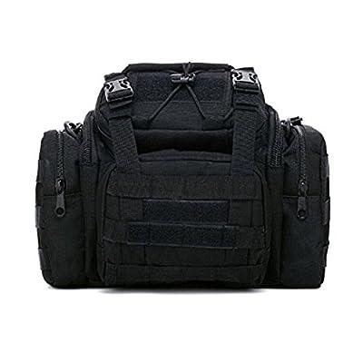 Kelaina Portable Sac à dos Sac de pêche Fishing Gear kit pour homme (Noir)
