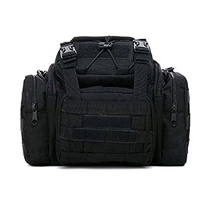 xinyiwei 3P multifuncional cintura bolsillos mochila bolsa de aparejos de pesca (negro)