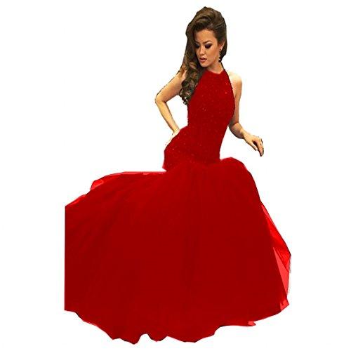 issa red long dress - 1