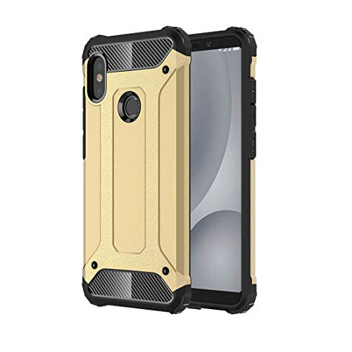 Zhangl Mobile Phone Combination Cases for Xiaomi Redmi Note 5 Pro Full-Body Rugged TPU + PC Combination Back Cover Case (Black) Combination Cases (Color : Gold)