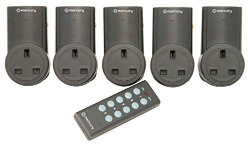 Remote Control Mains Socket Adaptors - Set of 5