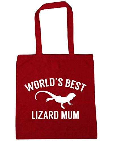 10 Bag Red Shopping Classic 42cm x38cm lizard Tote HippoWarehouse Beach Gym World's litres mum best T1PqPA