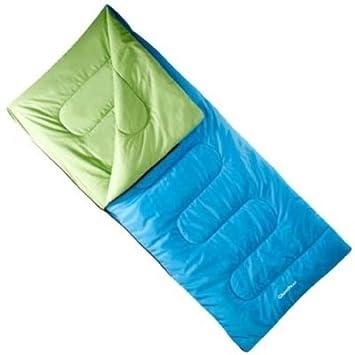 QUECHUA Simple no Saco de Dormir, con Cremallera, Talla única 190 cms. Azul.: Amazon.es: Jardín