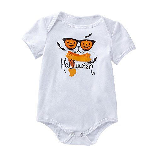 Lurryly Baby Romper Halloween Pumpkin Playsuit Bodysuit Clothes Jumpsuit Outfit 0-18M -