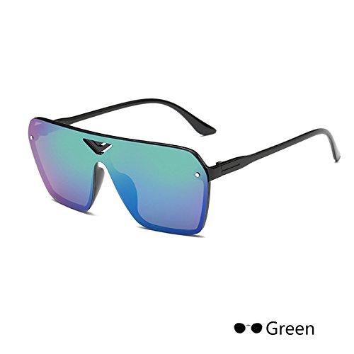 de Green Gafas cuadrada espejo sol damas gafas mujer negro Retro400 para Vintage hembra Eyewearuv lujo de de ZHANGYUSEN x0qR1TwgT