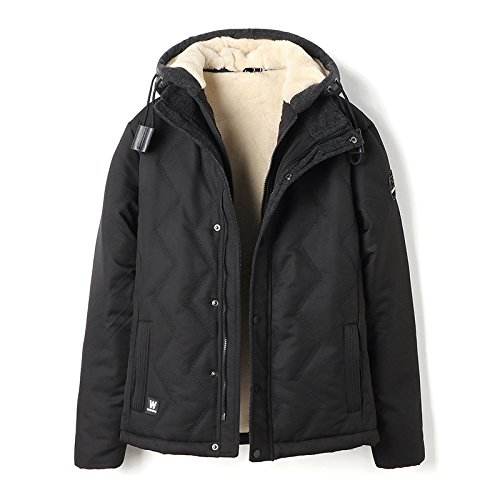cotton black leisure winter padded coat fur warm cotton padded HHY jacket Young XXL w8qfRRP