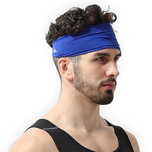 Tough Headwear Men's Headband, (Getting Blue Out Of Hair)