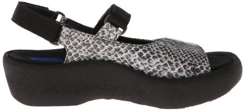 Leather Print Black Fantasy Sandals Wolky Jewel 3204 Snake Womens White qKq4ztA