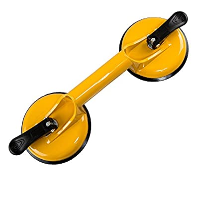Qadira Premium Quality Heavy Duty Aluminum Suction Cup Plate Double Handle Professional Glass Puller/Lifter/Gripper