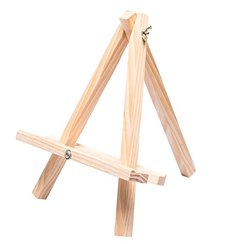 Tosnail 12'' Tall Natural Wood Tripod Easel Photo Painting Display - 5 Pack by Tosnail (Image #3)