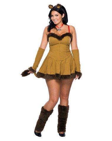 Rubies Costume Co Women's Wizard Of Oz Cowardly Lion Plus Size Costume Tan (Cowardly Lion Costume Womens)