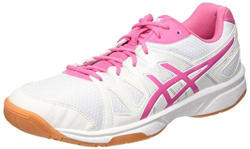 Upcourt blanc Unisexe Adultes Bianco De Gel Asics Chaussures Rose Azalée Des Gymnastique Blanc UzxwR5Wtq