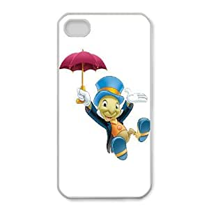 iphone4 4s Phone Case White Disney Pinocchio Character Jiminy Cricket WQ5RT7452591