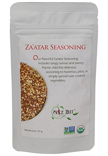 The Spice Hut Organic Za'atar ( Zatar/Zahtar/Zaatar) Seasoning, Middle Eastern Spice Blend, 2 -
