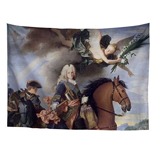 Spring Warner Felipe V de España Spanish Resurgence Classical Oil Painting Style Tapestry Evangelion Angelical Art Dorm Decoration Tapestry