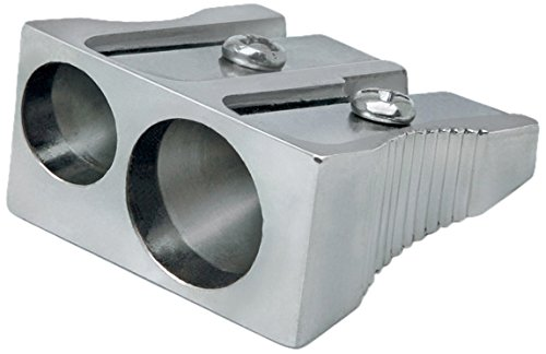 Rapesco Accesorios - Sacapuntas tradicional metalico de 2 agujeros R14DCDM2