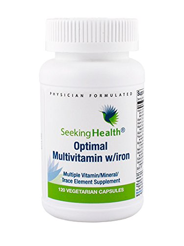 Optimal Multivitamin With Iron | Multiple Vitamin, Mineral, Trace Element Supplement | Provides Well-Tolerated, Highly Bioavailable Nutrient Forms To Maximize Benefit Absorption | 120 Easy-To-Swallow Vegetarian Capsules | Free of Magnesium Stearate | Physician Formulated | Seeking Health