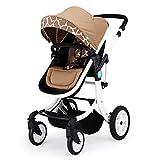 ZCY Pushchair, Fold Convenient High Landscape Light Suitable for 0-36 Months Baby Five-Point Seat Belt