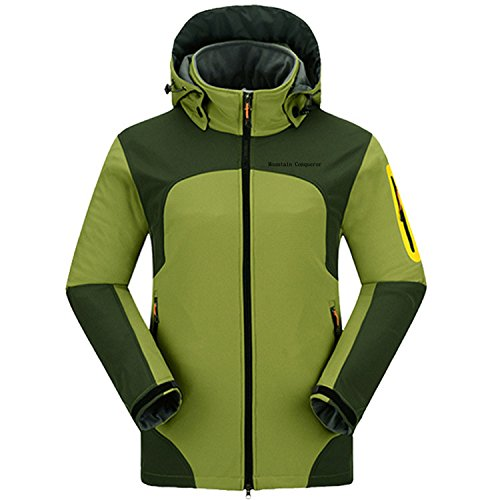 Mountain Conqueror Outdoor Wear Winter Jacket For Men Rain Waterproof Jackets Quick Drying Clothes by Mountain Conqueror